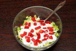 Sałatka z sałatą rzymską