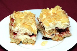 Ciasto z wiśniami na biszkoptach (bez pieczenia)